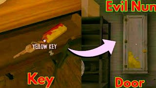 How to find and use the Yellow Key ( Evil Nun 1.3 update )