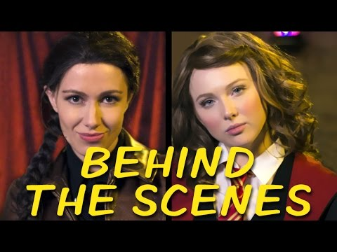KATNISS vs HERMIONE Behind the Scenes (Princess Rap Battle)