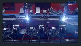 CLOOS - 2-Stationen-Roboteranlage bei Glüpker