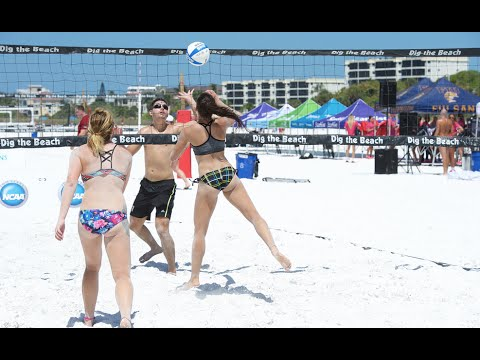 Slow Motion Girls Beach Volleyball