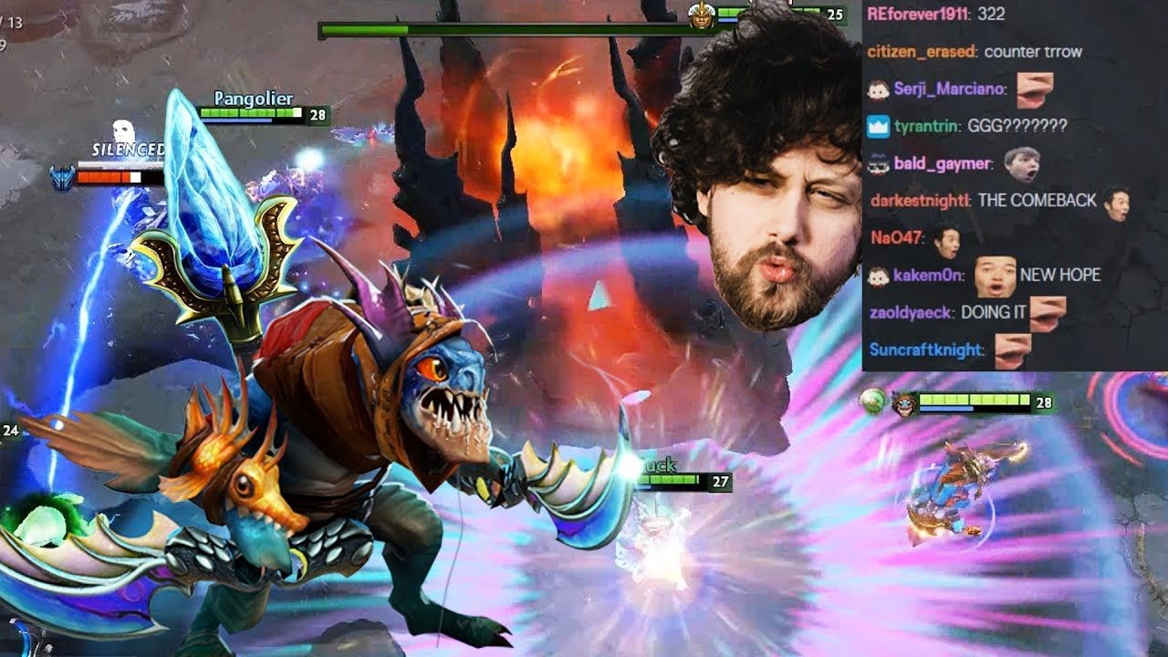 100 HP Throne Defence Comeback! Back and Forth Dota 2 Game