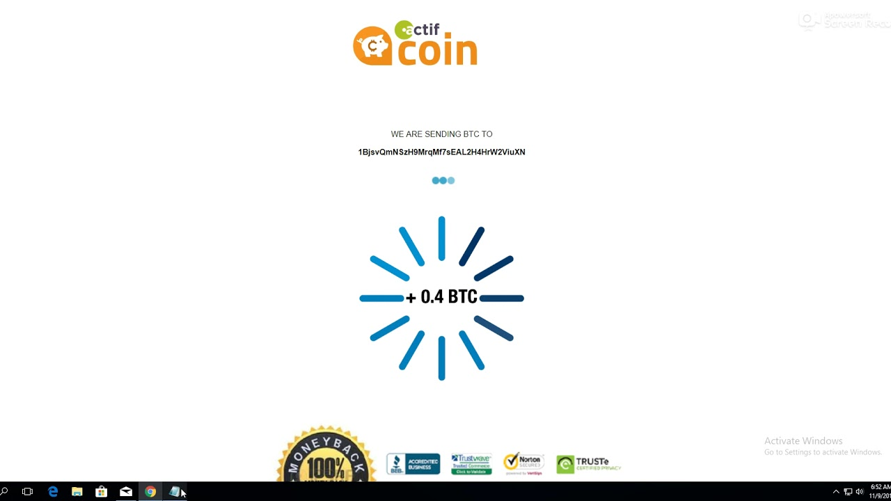 Boost Your Bitcoins X10 With Actif Coin + Payment Proof