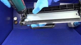 видео Заправка картриджа лазерного принтера HP 1010, HP 1200