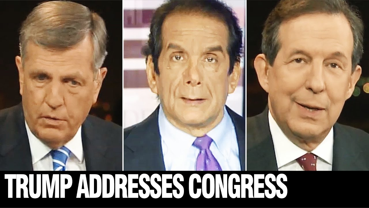HUME, KRAUTHAMMER, WALLACE, Fox Reacts to Speech - YouTube