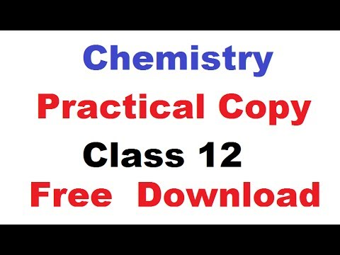 Chemistry practical copy class 12 cbse board