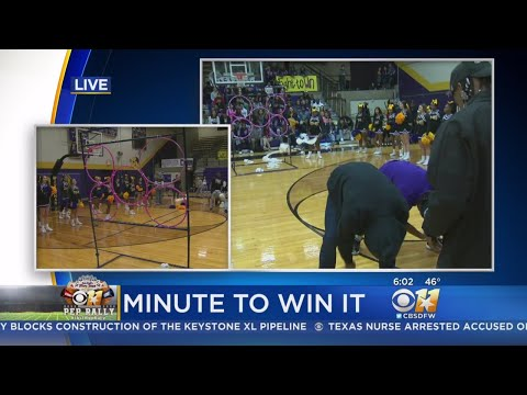 CBS 11 Pep Rally: Everman High School Students Play 'Hut-Hut-Hike'