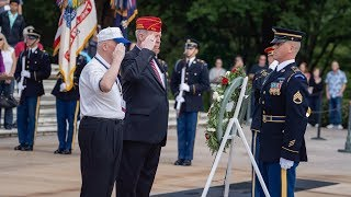 National Commander and The Old Guard Association places wreaths