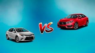 КРАШ ТЕСТ Honda Civic и Toyota Corolla