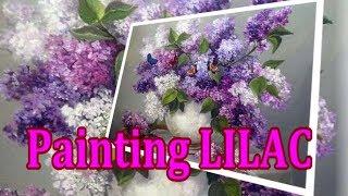 Букет сирени пышный. Картины с сиренью. Живопись маслом. Painting lilac. Oil painting (HD)