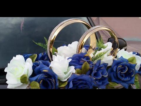 Свадебное украшение на машину своими руками/ Кольца