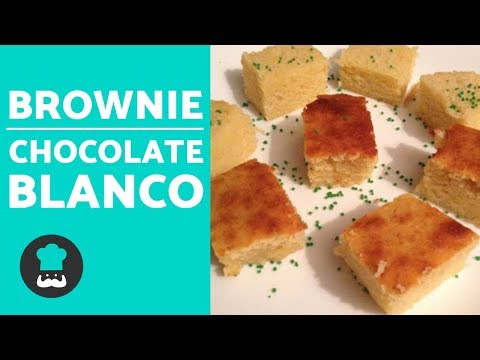 Brownie de CHOCOLATE BLANCO | Recetas de brownie FÁCIL