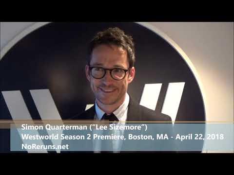 with WESTWORLD Star Simon Quarterman at the Boston Season 2 Boston Premiere