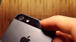 видео Царапины и сколы на корпусе iPhone 5S. Отклеиваю заднюю плёнку.