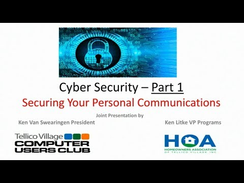 Tellico Village HOA Townhall March 2019 CyberSecurity