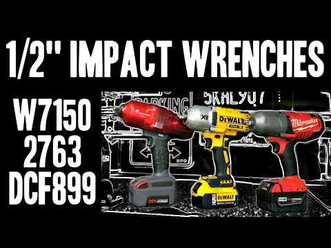 1 2 impact wrenches w7150 vs 2763 vs dcf899 milwaukee. Black Bedroom Furniture Sets. Home Design Ideas