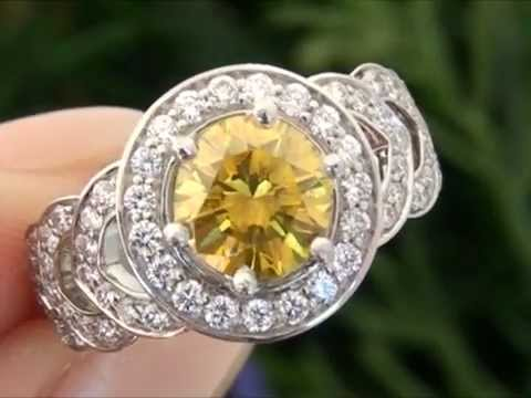 Fancy Canary Yellow Diamond Engagement Ring