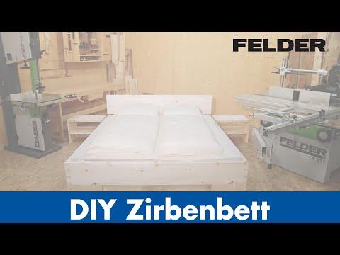 DIY Tiroler ZIRBENBETT, produziert mit FELDER® Holzbearbeitungsmaschinen