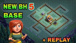 BUILDER HALL 5 (BH5) BEST BASE LAYOUT WITH REPLAY | NEW BH5 TOP TROLL BASE | CLASH OF CLANS |