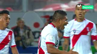 Perú vs. Colombia: Edison Flores intentó sin mucha fortuna