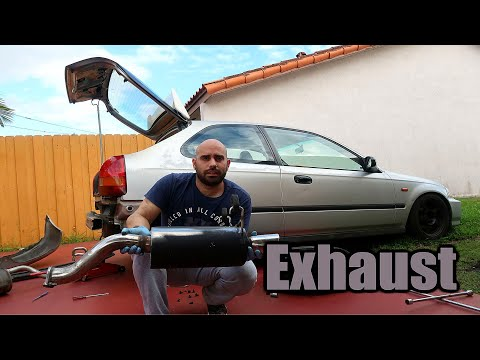 New EXHAUST for the Ek Hatch!!!