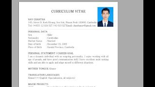 How to Insert Photo in Resume and CV - 2018