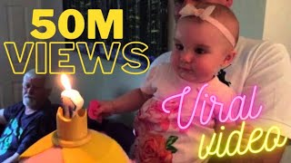 1 Year Old Birthday Cake Blow Out Candles