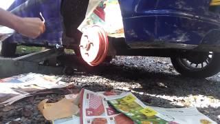 Como pintar el tambor de freno de un ford fiesta parte dos