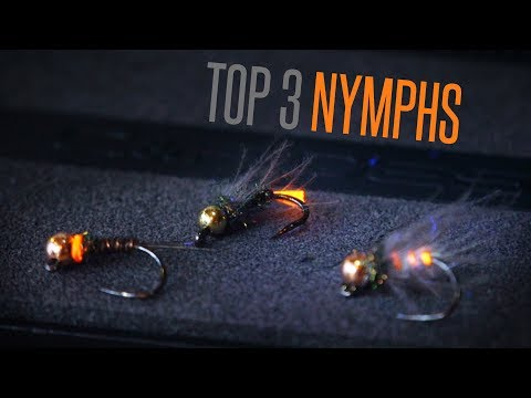 Top 3 Nymphs For Grayling And Trout (Hare's Ear, Red Tag And Pheasant Tail Nymphs) - Tie TV