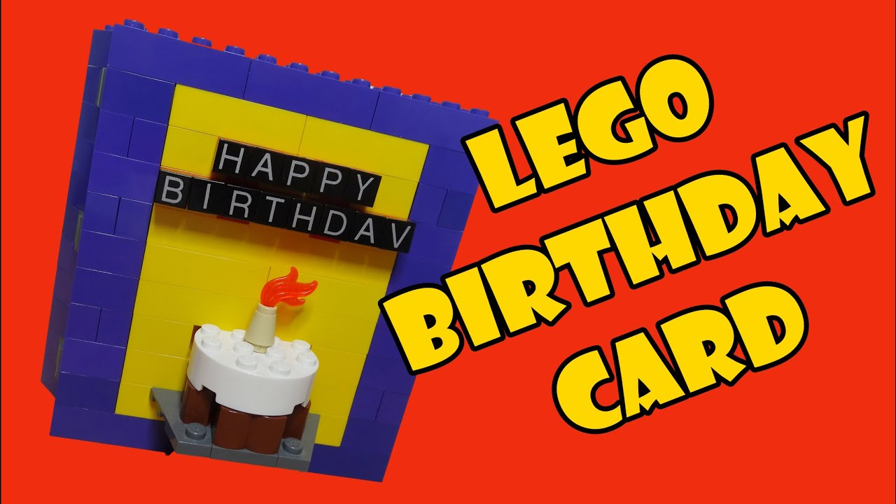Lego LightUp 3D Birthday Card YouTube – Lego Birthday Card