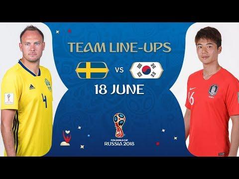 LINEUPS - Sweden v Korea Republic - MATCH 12 @ 2018 FIFA World Cup™