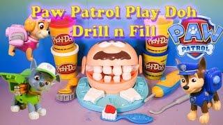 PAW PATROL Nickelodeon Paw Patrol Play Doh Drill n Fill A Paw Paw Patrol Video Toy Parody
