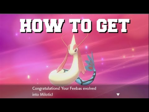 HOW TO EVOLVE FEEBAS INTO MILOTIC IN POKEMON SWORD AND SHIELD (HOW TO GET THE PRISM SCALE)