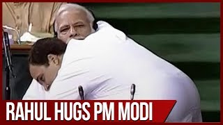 No-Confidence motion: PM Modi mocks Rahul Gandhis bear hug in Lok Sabha