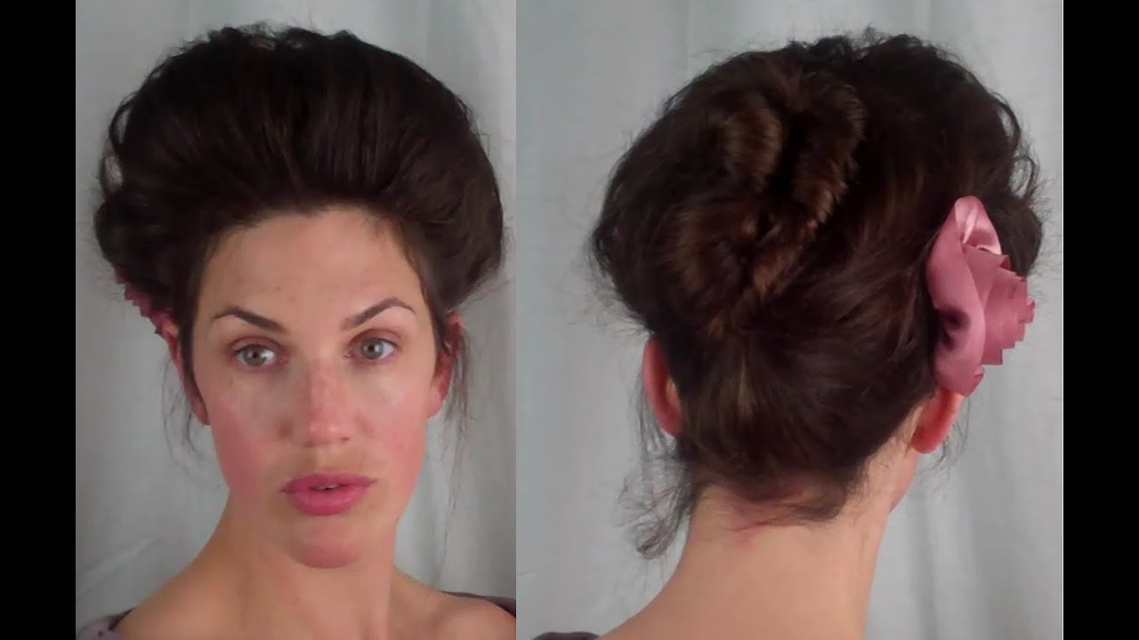how to edwardian 'psyche knot' hair tutorial - fitfully vintage