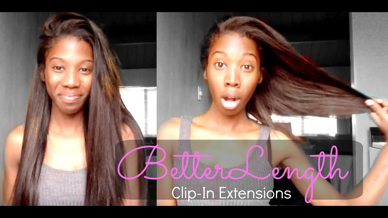 Betterlength Clip In Hair Extensions Light Yaki Review Youtube