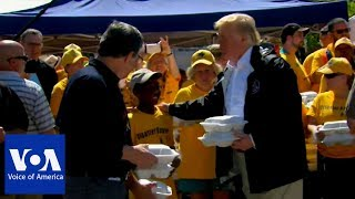 Trump Delivers Warm Meals to Storm Victims in North Carolina