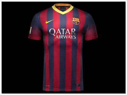 Nike FC Barcelona 2013/14 Home Kit UNBOXING