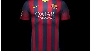51fa373c60d Nike FC Barcelona 2013 14 Home Kit UNBOXING