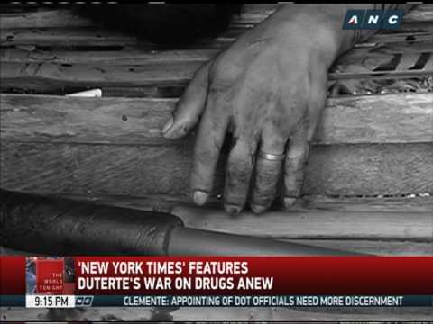 New York Times features Duterte's drug war anew