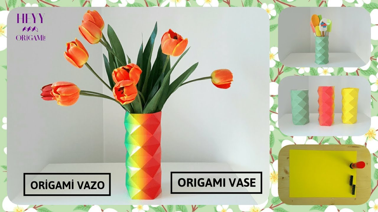 DIY Amazing Handmade Crafts. How to Make an Origami Vase for Paper ... | 720x1280