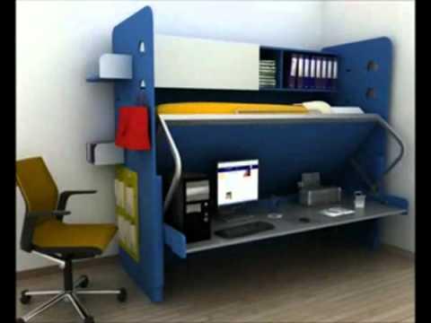 Cama escondida ideas y muebles bogota d c colombia youtube - Cama escondida en mueble ...