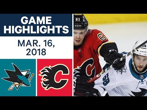 NHL Game Highlights | Sharks vs. Flames - Mar. 16, 2018