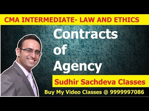 CMA Inter Law and Ethics-Contracts of Agency