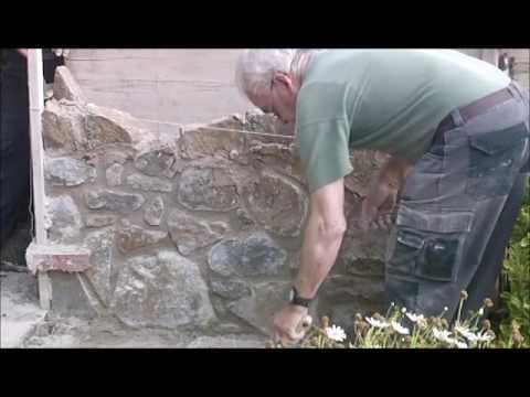 C mo construir peque o muro piedra mamposteada v deo176 - Hacer pared de piedra ...