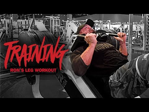 MUTANT - IFBB Pro Ron Partlow - Leg Day @ Dave Fisher's Powerhouse