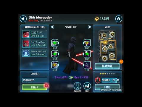 SWGOH 16k Crystals into Marauder - How Are The Drop Rates?