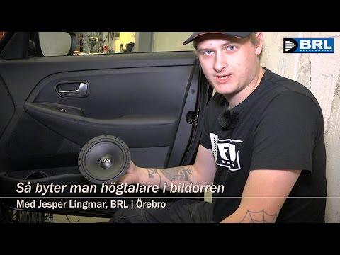Nykomna Så byter man högtalare i bildörren (BRL) - YouTube VD-33