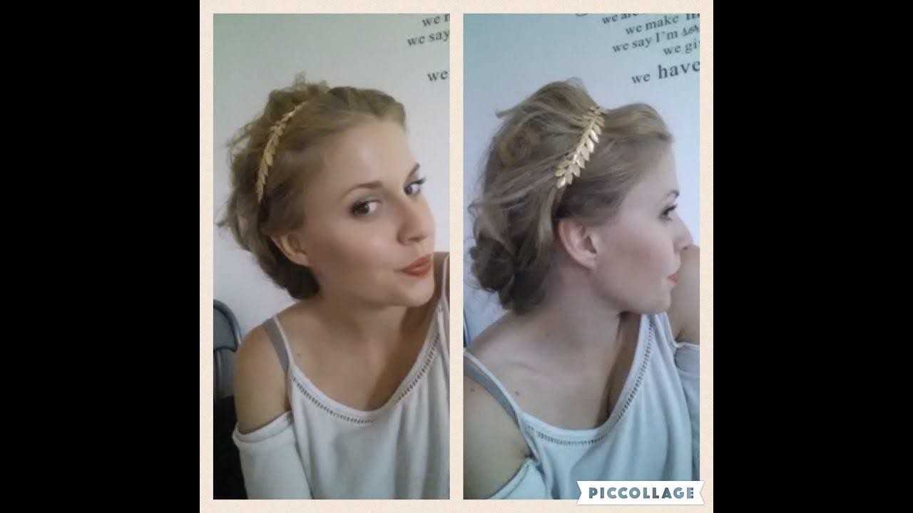 838b66d86a40 Acconciatura greca capelli ricci - YouTube