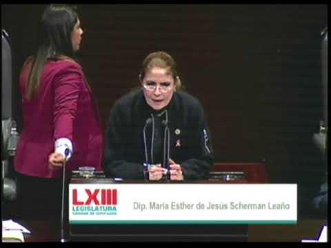 Dip. Esther Scherman (PRI) - Ley de Ingresos 2018 (A Favor)