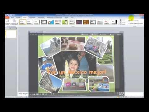 Cómo hacer un collage en Power Point